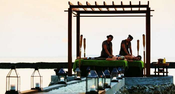 One of the best things to do in Maldives on honeymoon is to treat yourself & your partner to a couples massage.