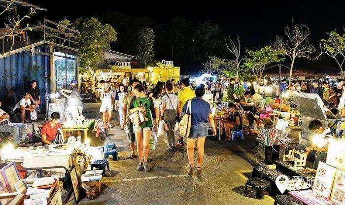 Shop at the local night markets to explore Bangkok's nightlife and entertainment zones