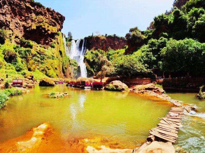 The beautiful Monkey Falls in Coimbatore
