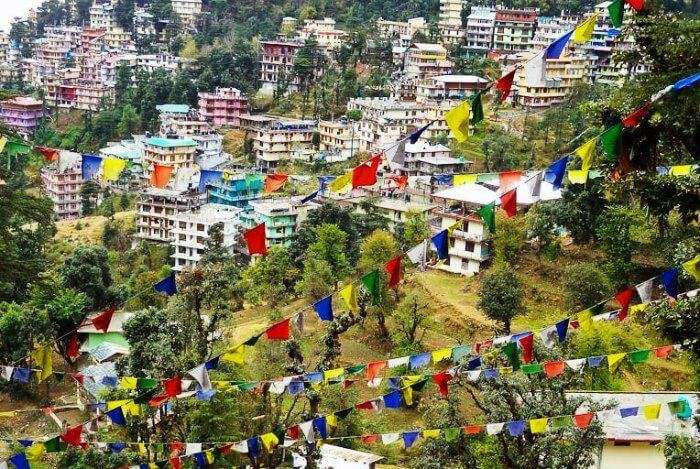 Dharamshala is a serene and calm places to visit in Himachal Pradesh if you seek peace & solace