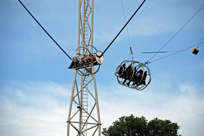 Only for the daredevils, Reverse Bungee is one of the best outdoor activities to do in Singapore
