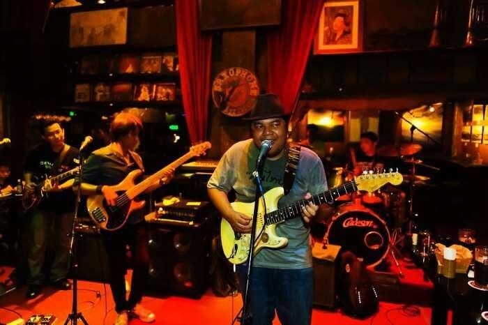 A music event at Saxophone Pub in Bangkok