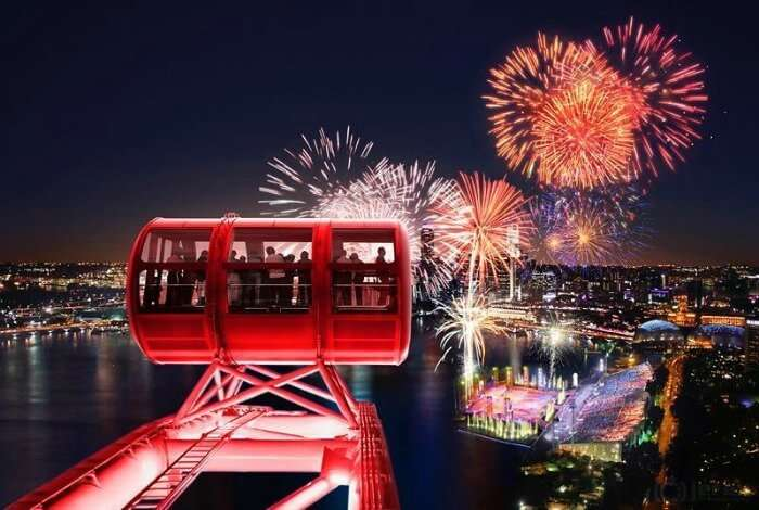 Amongst the many night activities to do in singapore, view from the Singapore Flyer is aboslutuely stunning