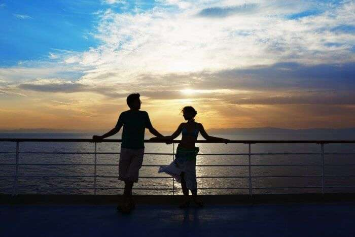 One of the best things to do in Maldives is going for a romantic sunset cruise