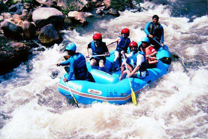 White water rafting is one of the best water sports in Thailand