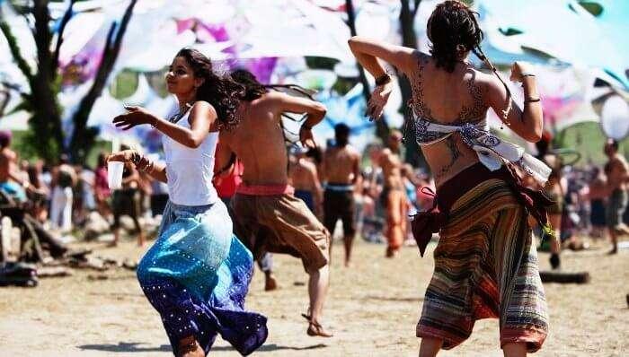 Beach party at Baga beach in Goa