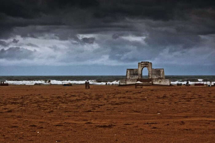 The spectacular in Elliot's Beach in Chennai