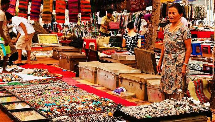 The world famous flea market at Anjuna beach in Goa