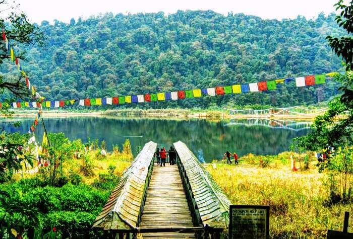 The sacred Khecheopalri Lake in Sikkim