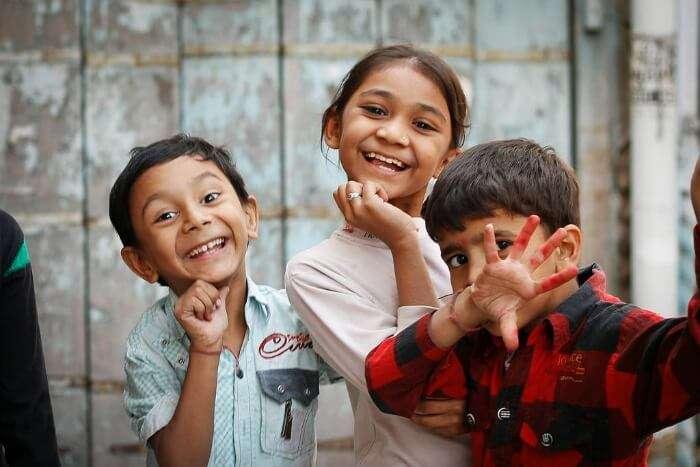 Happy little kids in Ahmedabad
