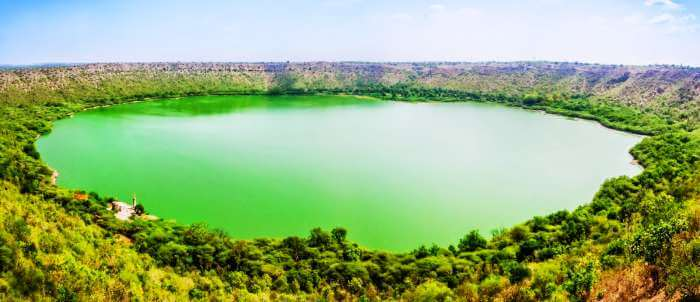 The picturesque views of Lonar Lake - one of the most pristine offbeat getaways near Mumbai