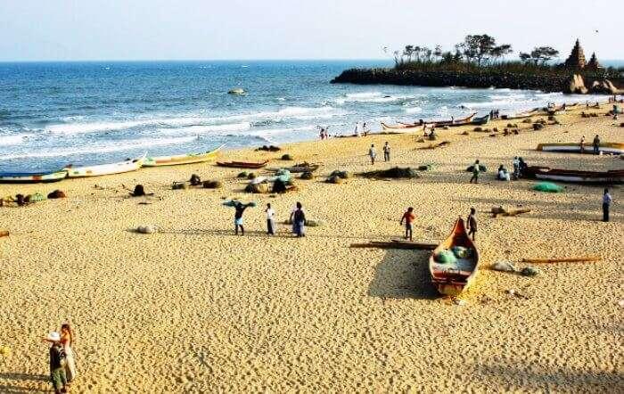 One of the top beaches in India, Mahabalipuram beach