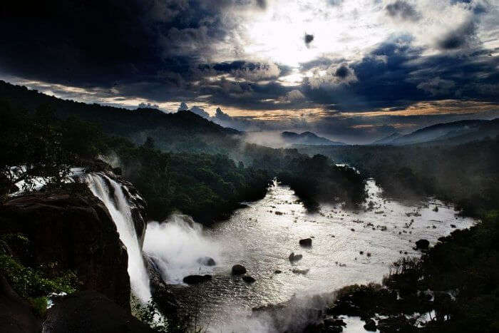 The majestic sight of the highest and one the most popular waterfalls in Kerala