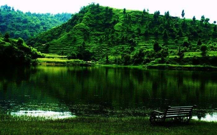 The pristine lake in the foothills of Morni