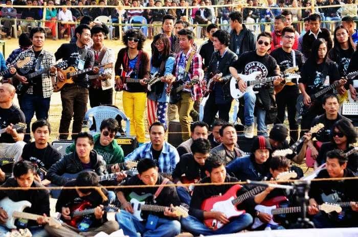 Record breaking guitar ensemble in Nagaland