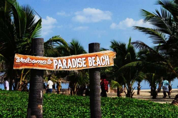 The lovely Plage Paradiso Beach in pondicherry