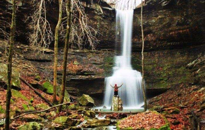The picturesque views of Sentinel rock waterfalls