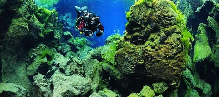 Silfra in Iceland is amongst the most adventurous and best scuba diving destinations in the world