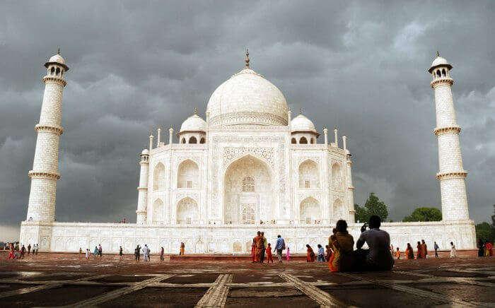Taj Mahal in Agra, one of the best weekend getaway from Delhi in monsoon