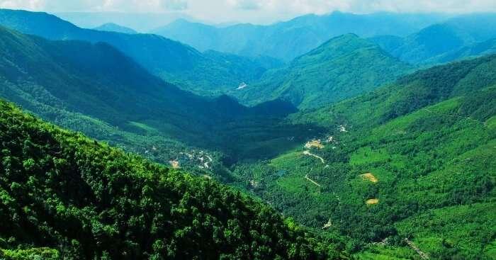 The beautiful hills of Haflong in Assam