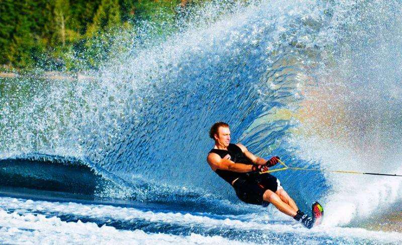 Skiing is one of the popular water activities in Mauritius