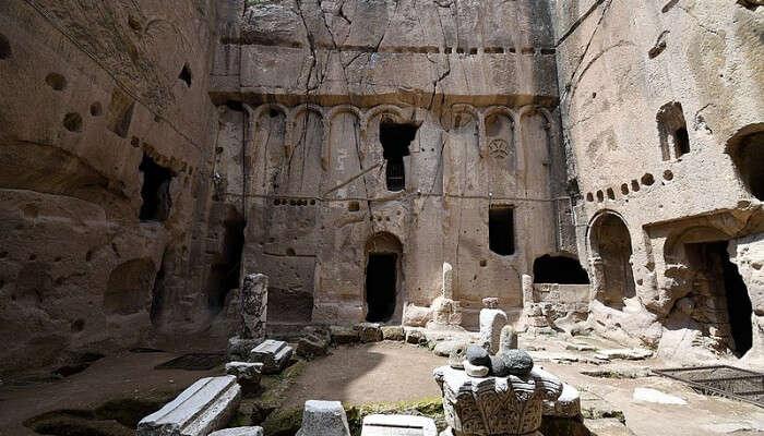 calmness of Gümüşler Monastery