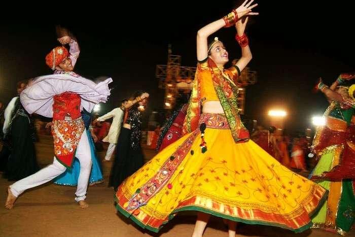 people enjoying garba in Ahmedabad