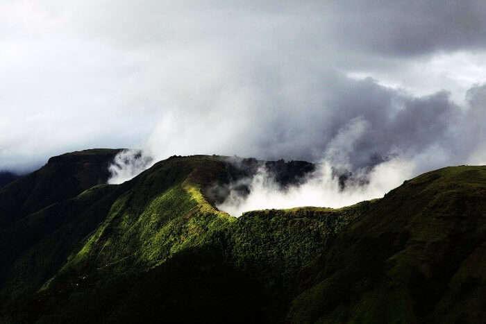 Misty hills of Silent valley national park