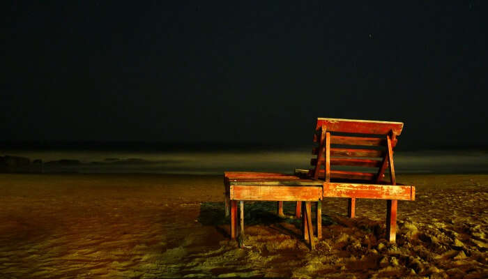 What's a nightlife in Goa without a night at beach