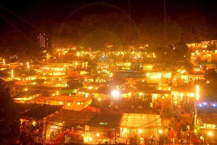 A night flea mart in north Goa