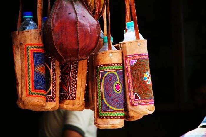 Camel Leather carry bag at Sireh Deori Bazaar