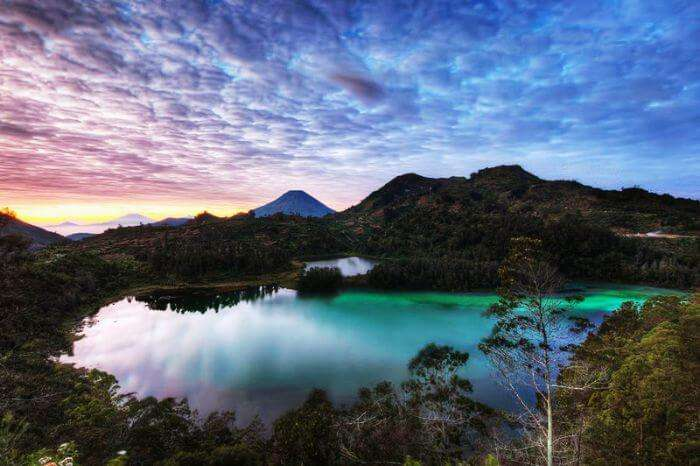 Sunrise at the Dieng plateau - another one of Indonesian beautiful places