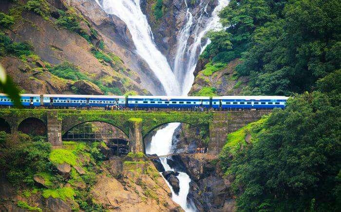 Dudhsagar Falls enroute Hubli from Madgaon