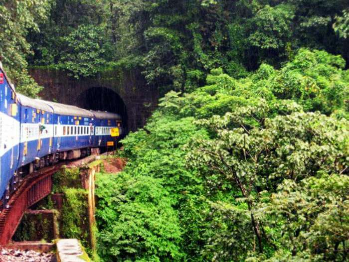 India's scenic train route from Hassan to Mangalore via Malnad
