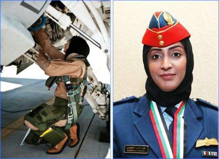 Major Mariam Al Mansouri, the first female fighter pilot of UAE