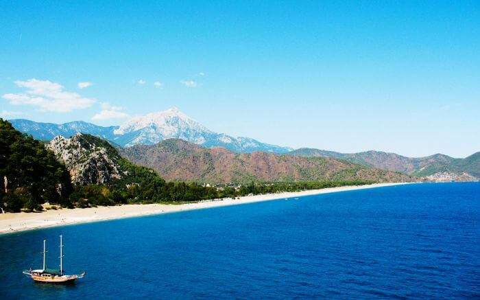 The beautiful stretched coast of Olympos