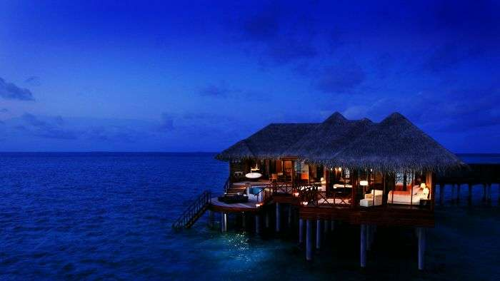 A surreal evening at the romantic overwater bungalow at Lombok