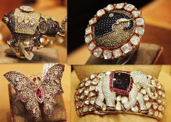 Precious and semi-precious jewellery available at Johari Bazaar-one of the earliest Jaipur shopping places