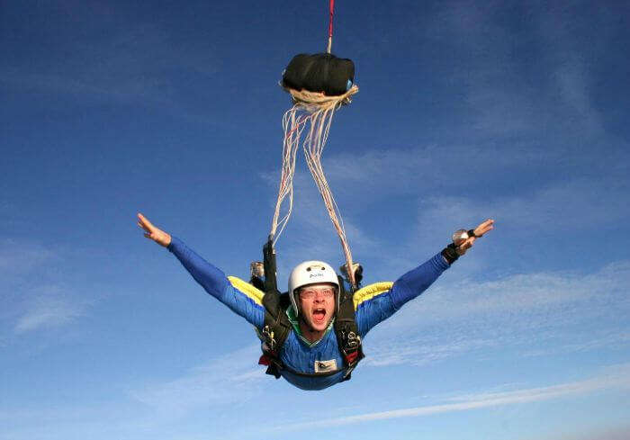 Static Line Jump in the sky