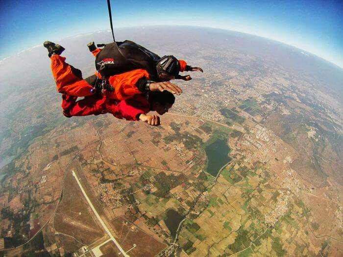 Tandem Jump in Mysore - one of the most popular skydiving places in India