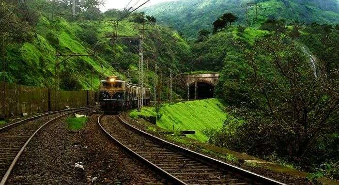 Karjat to Lonavala is one of the most beautiful train routes of India