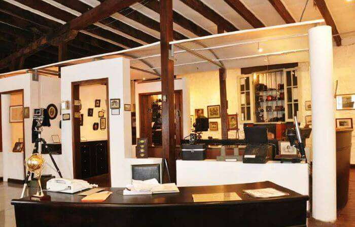 Interior of the photo museum