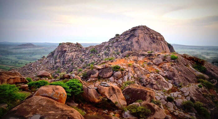 Kunti Betta and its hills is among awesome offbeat places around Bangalore