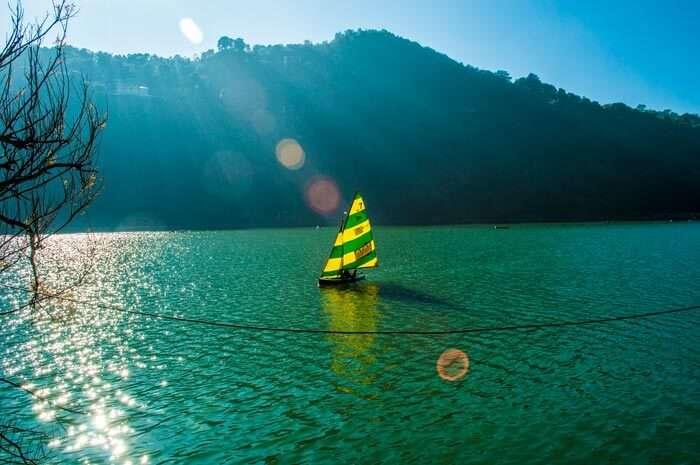 Boating at Naini lake in Nainital