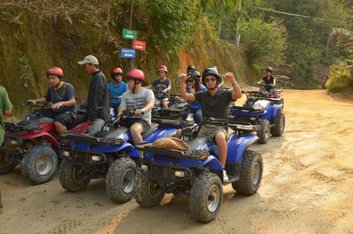 Riders at ATV Adventure Park – the only ATV park of all the Malaysia tourist attractions