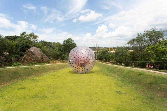 Zorbing at Serdang is among the best places to visit in Malaysia for zorbing lovers