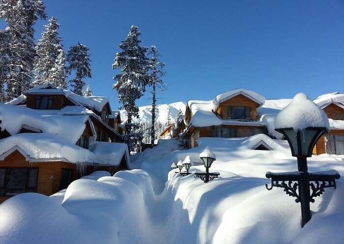 Snowfall at Gulmarg makes it best among the places to visit in winter in india