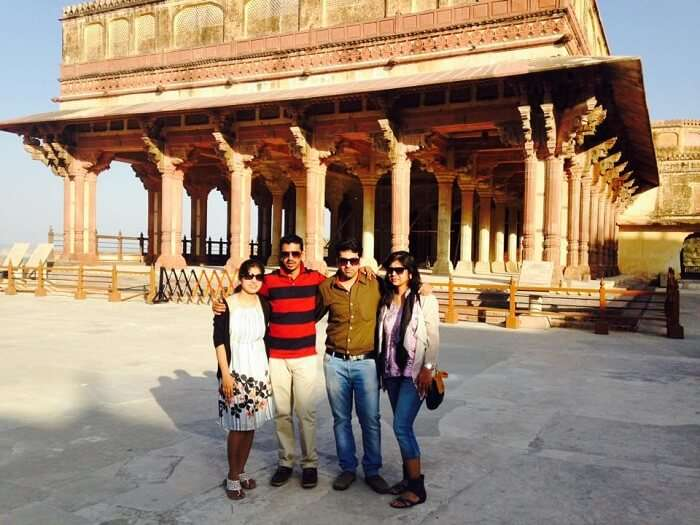 Getting clicked at the Ajmer Fort