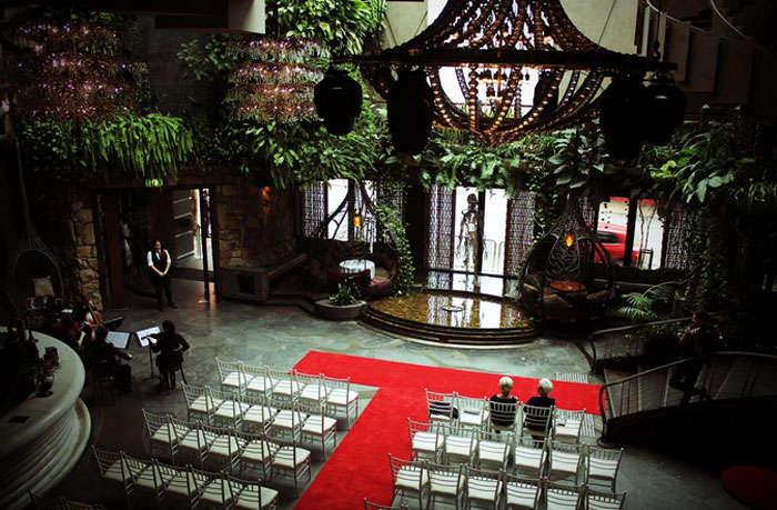 A wedding preparation at the Cloudland