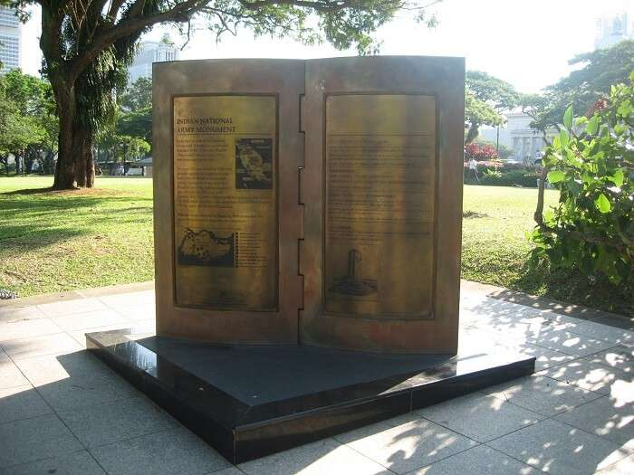 Plague at Indian National Army Monument – One of the historical places in Singapore amidst the hustle